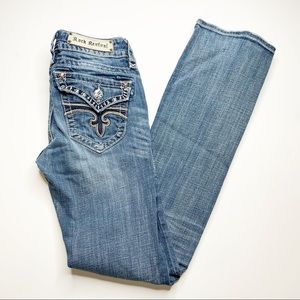 Rock Revival Jen Boot Cut Denim Blue Jeans
